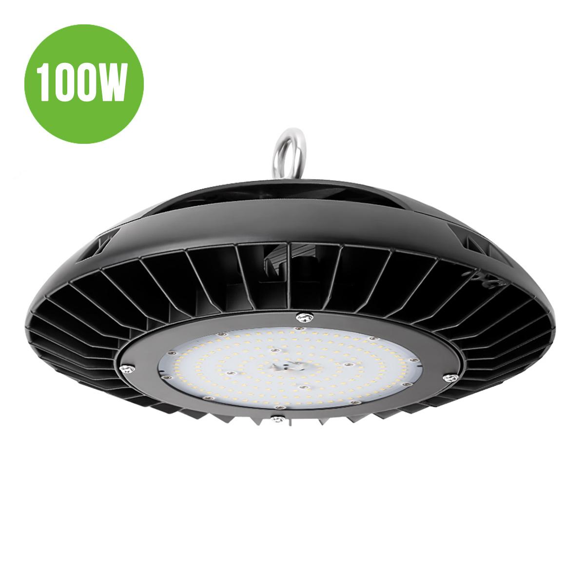 100W UFO LED Hallenstrahler, Dimmbar 10500lm Industrielampe, Ersatz für 200W HPS / MH , Wasserdicht, Kaltweiß