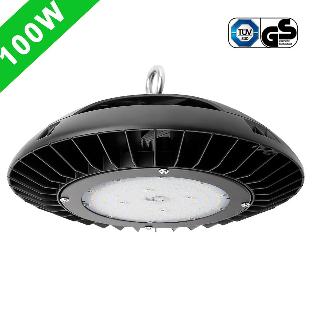 100W UFO LED Hallenstrahler, Dimmbar 10500lm Industrielampe, Ersatz für 200W HPS / MH , Wasserdicht, Kaltwei?