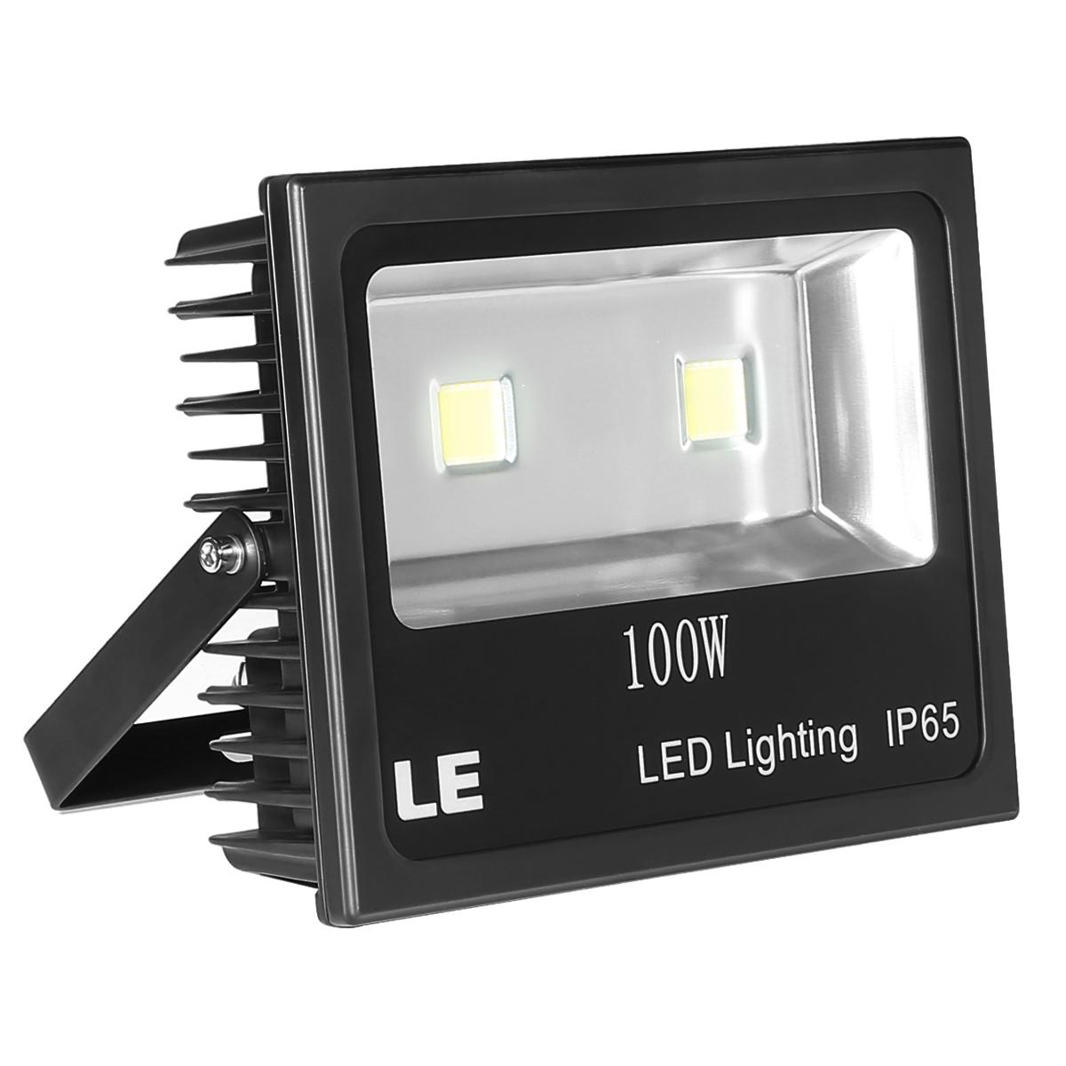 100W LED Strahler, 10150lm Flutlichtstrahler, entspricht 250W HS/MH-Leuchtmittel, wasserdicht, Kaltweiß