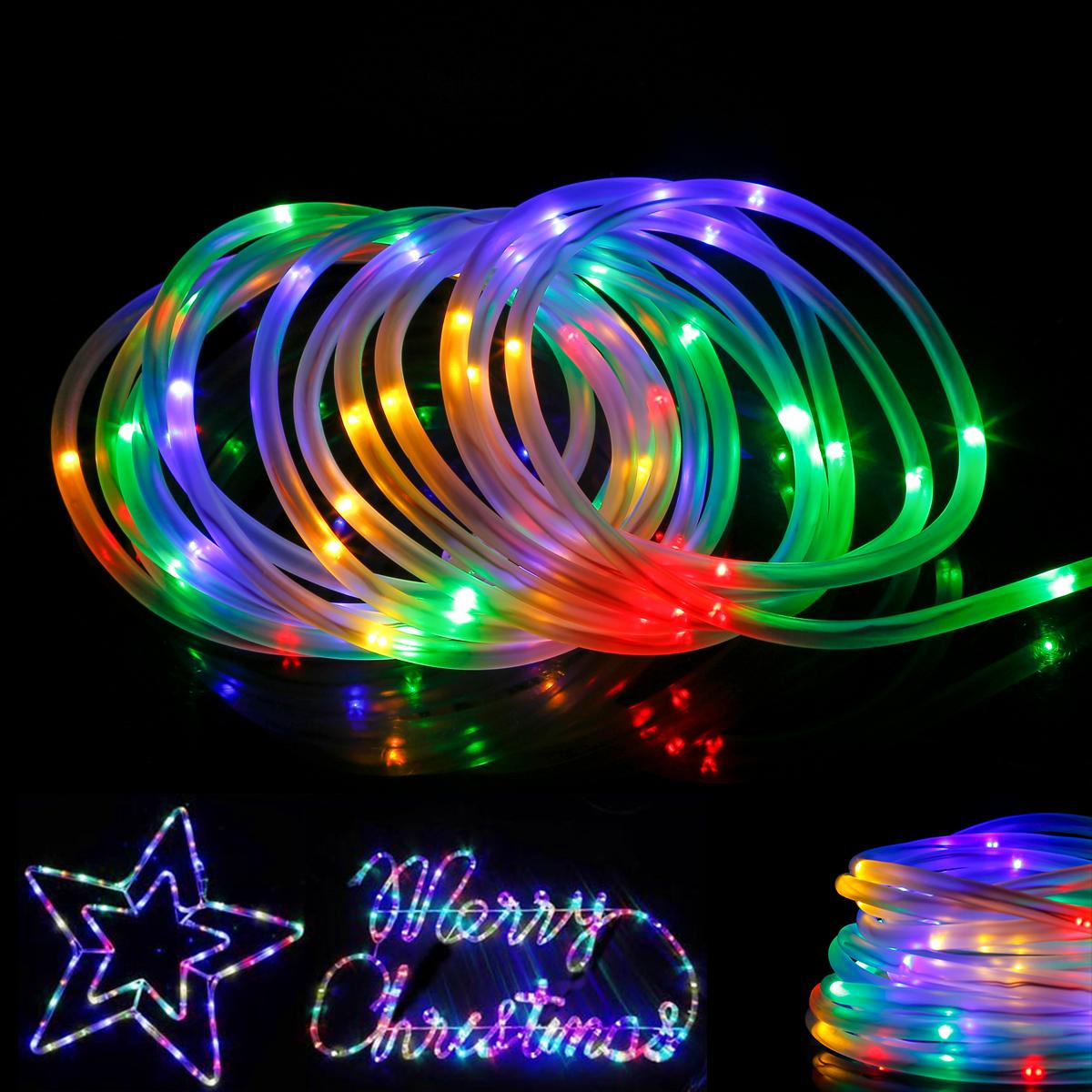 RGB LED Lichterschlauch, 10M Mehrfarbig 120er LEDs, 8 Modi mit Memory-Funktion für Innen/ Au?en Party Weihnachten Dekolicht