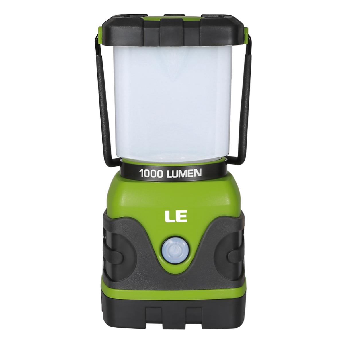 10W LED Campinglaterne, Dimmbar 1000lm Campinglampe, 3 Helligkeiten, IP44 Wasserdicht, Batteriebetrieben, Außenleuchte für Stromausfßllen Wandern
