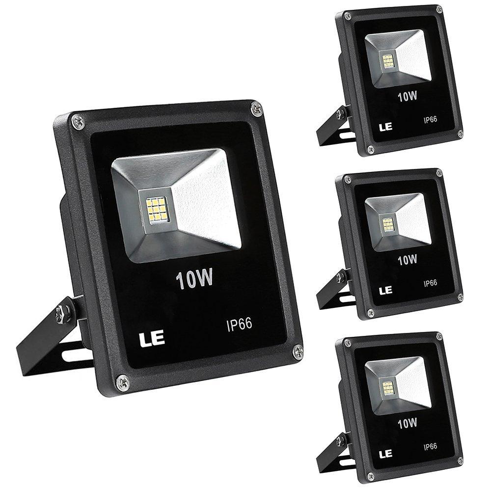 [Bündel] 10W LED Strahler, 660lm Außenstrahler, ersetzt 100W Halogenlampe, Warmweiß, Signalleucht, 3er Set
