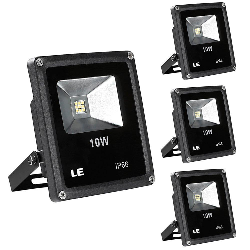 10W LED Fluter, 760lm ersetzt 100W Halogenlampe, Wasserdicht, Kaltweiß, LED Außenstrahler, LED Flutlichtstrahler, 3er Pack
