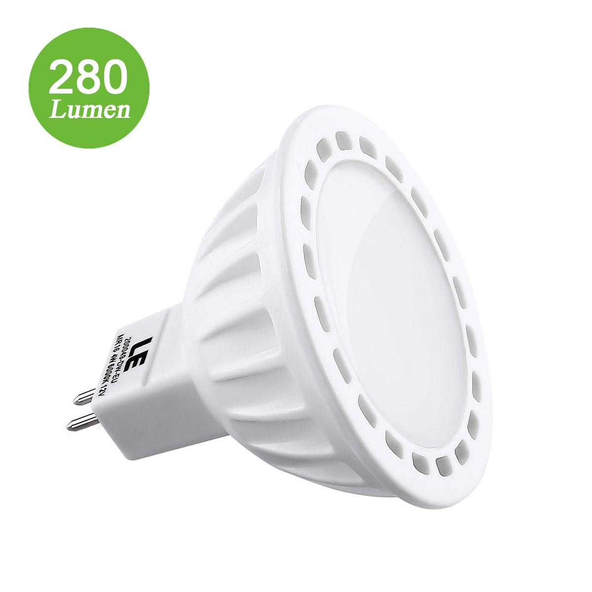 12V 4W LED MR16 GU5,3 Strahler, 280lm Birnen, entspricht 40W Halogenlampe, Kaltweiß