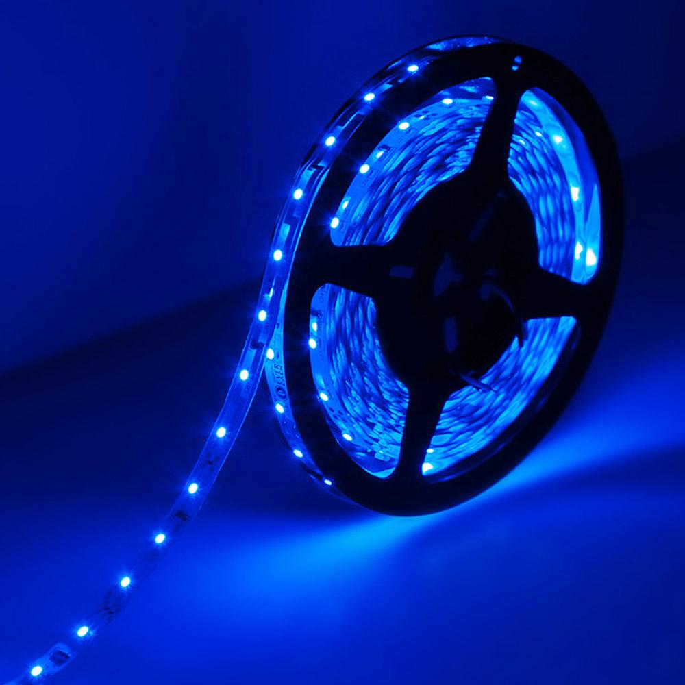 12V LED Streifen, Dimmbar, Indirekte Beleuchtung, Blau, 300 Stück 3528 LEDs, Non-Wasserdicht, 5M