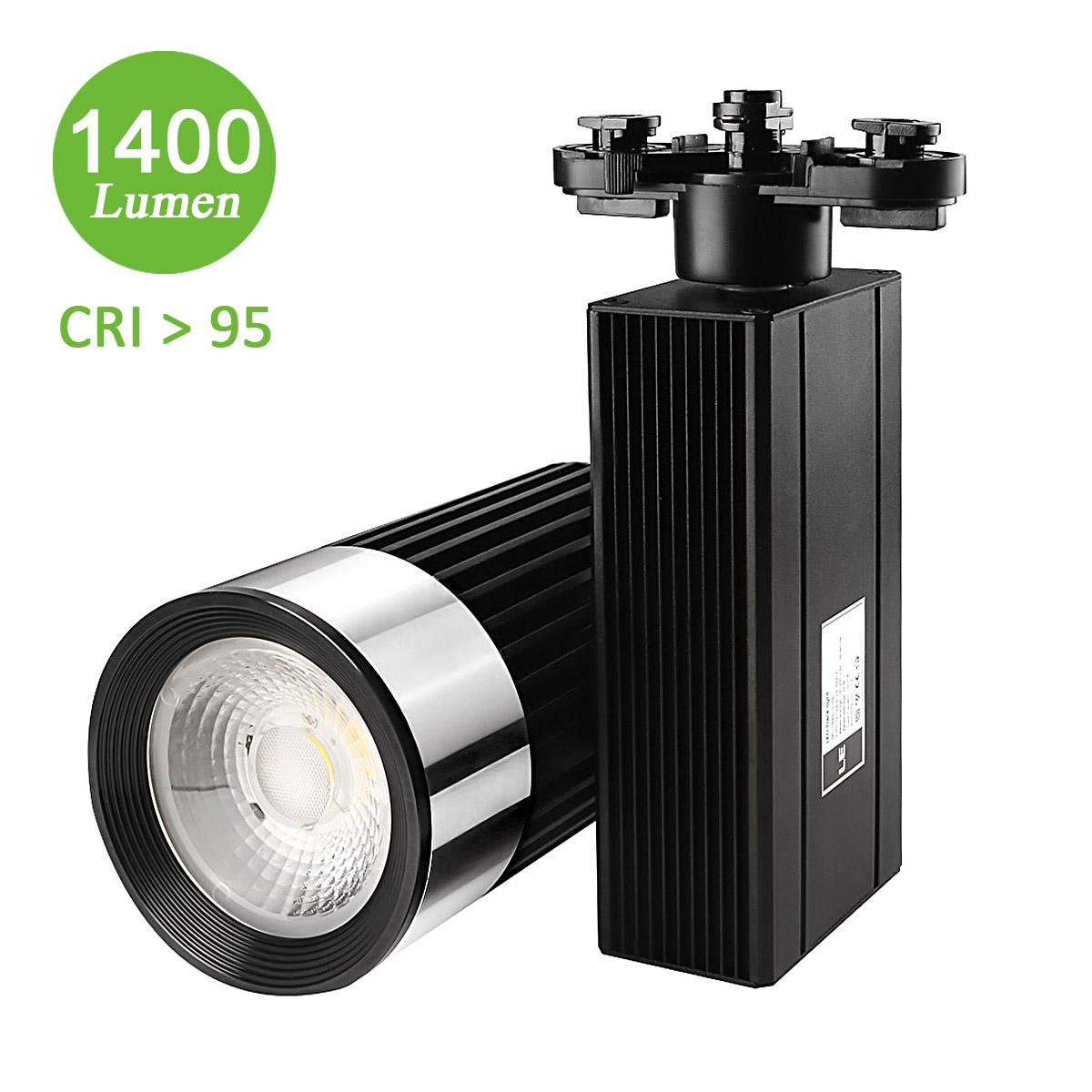 25W LED Leuchten Schienensystem, 1400lm Seilsystem, Ersatz für 150W Halogenlampen, 30° Spotlight, Kaltweiß