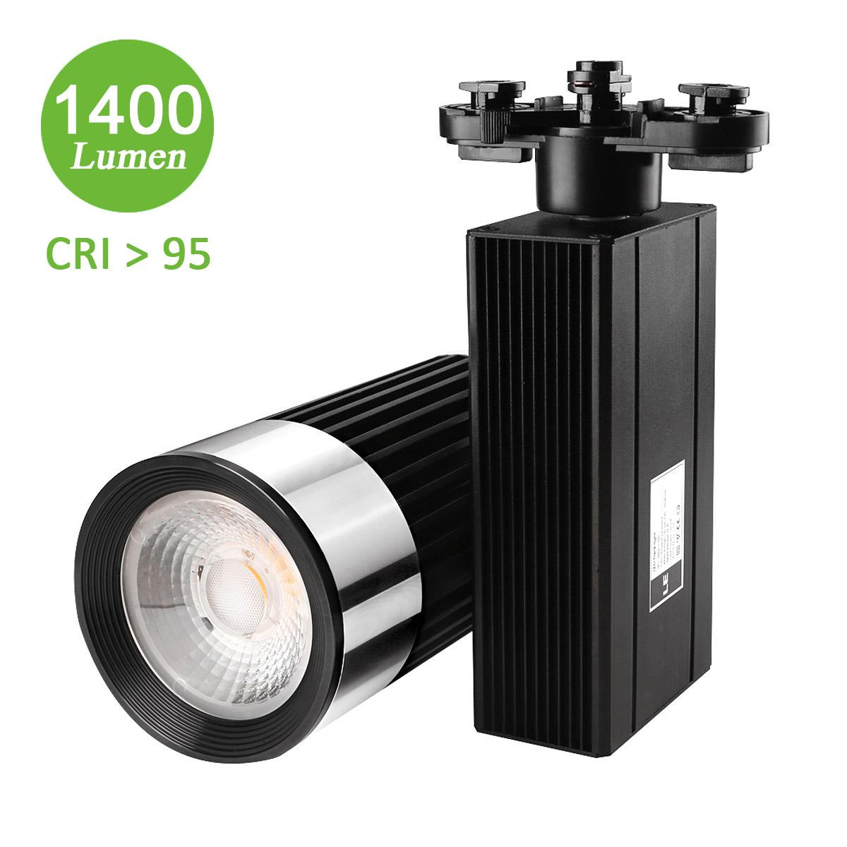 25W LED Schienensystem, 1400lm Seilsystem, Ersatz für 150W Halogenlampen, 30° Spotlight, Warmweiß