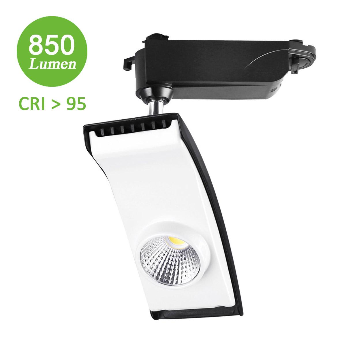 15W LED lichtschienensystem, 850lm Urail System, Ersatz für 100W Halogenlampen, Spotlight, Kaltweiß