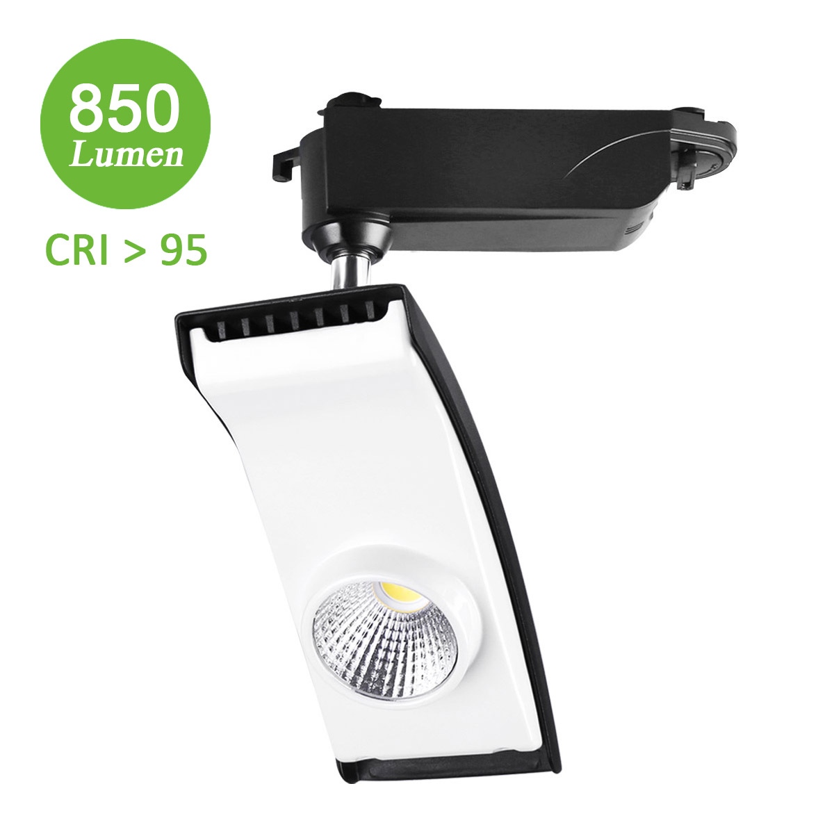 15W LED Seilsystem, 850lm Schienenleuchte, Ersatz für 100W Halogenlampen, Spotlight, Neutralweiß