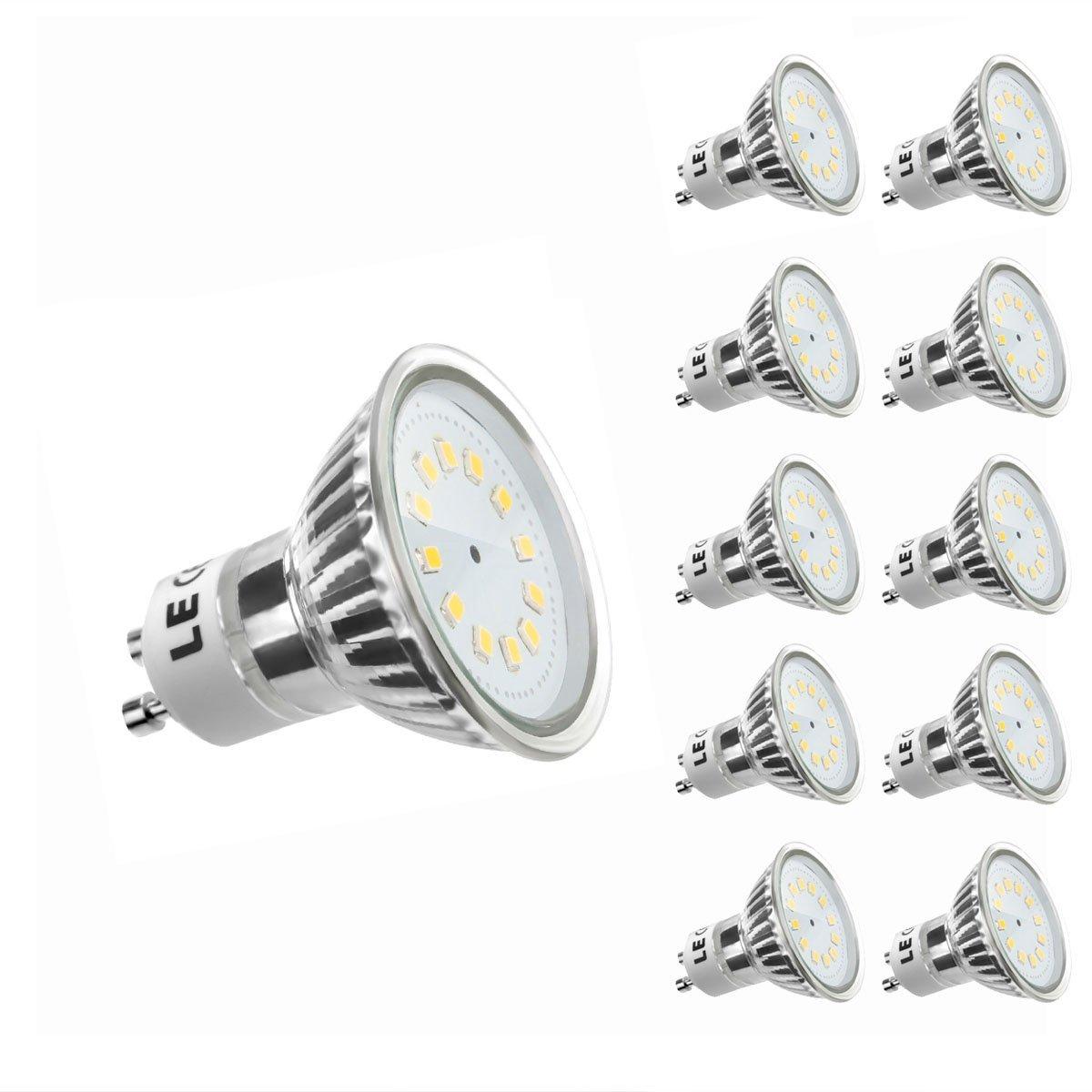 [Bündel] 2,5W GU10 Fassung, MR16 200lm LED Strahler, Ersatz für 35W Halogenlampe, Warmweiß, 10er Set