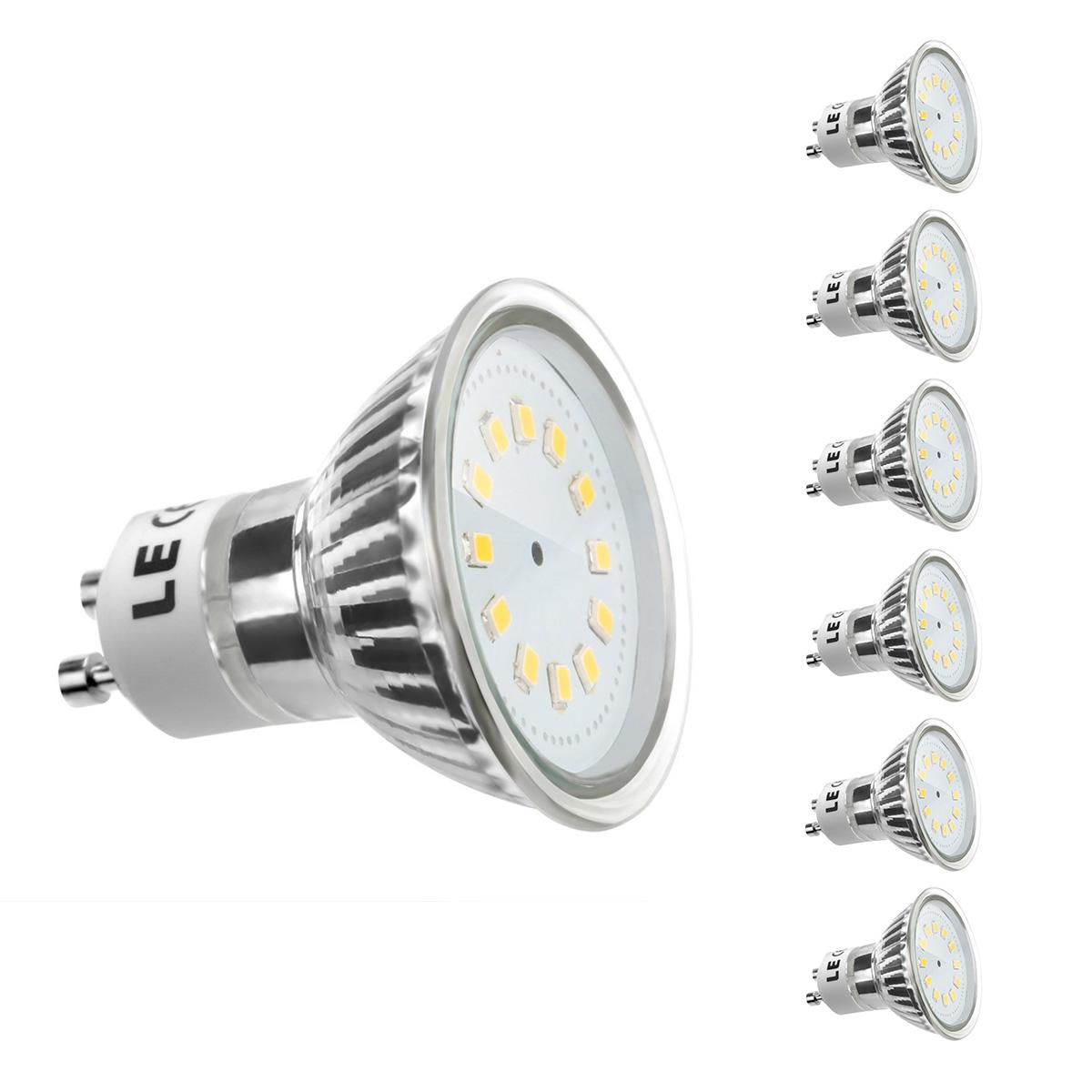 [Bündel] 2,5W GU10 Fassung, MR16 200lm LED Strahler, Ersatz für 35W Halogenlampe, Warmweiß, 6er Set