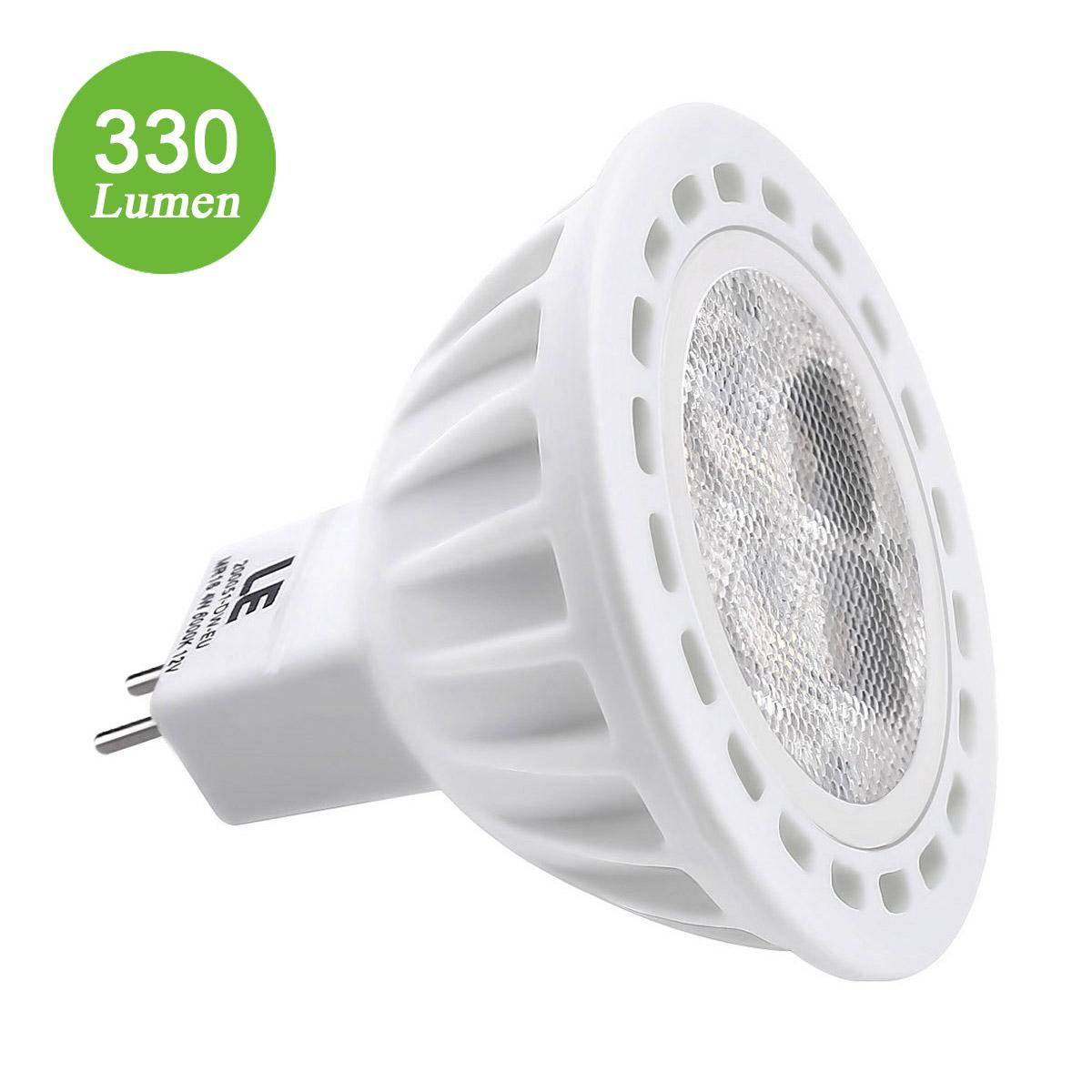 4W MR16 LED Spots, 330lm GU5,3, Ersatz für 50W Halogenlampe, nicht wasserfest, Kaltweiß