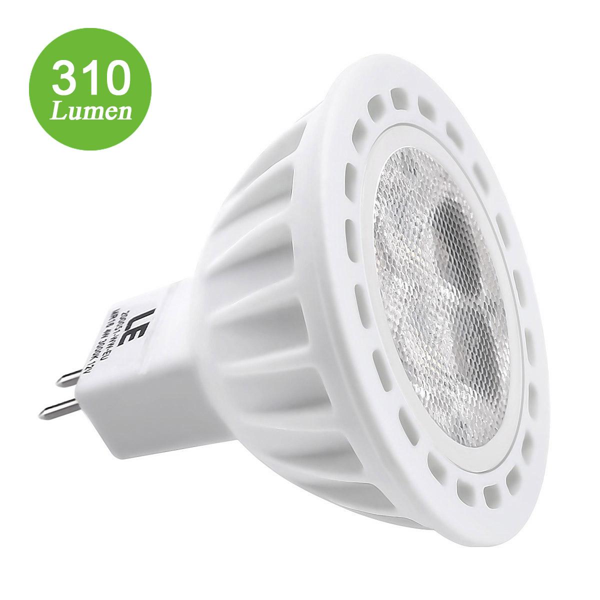 4W MR16 LED Spots, 310lm Gu5.3 LED Birnen, ersetzt 35W Halogenlampe, Warmweiß
