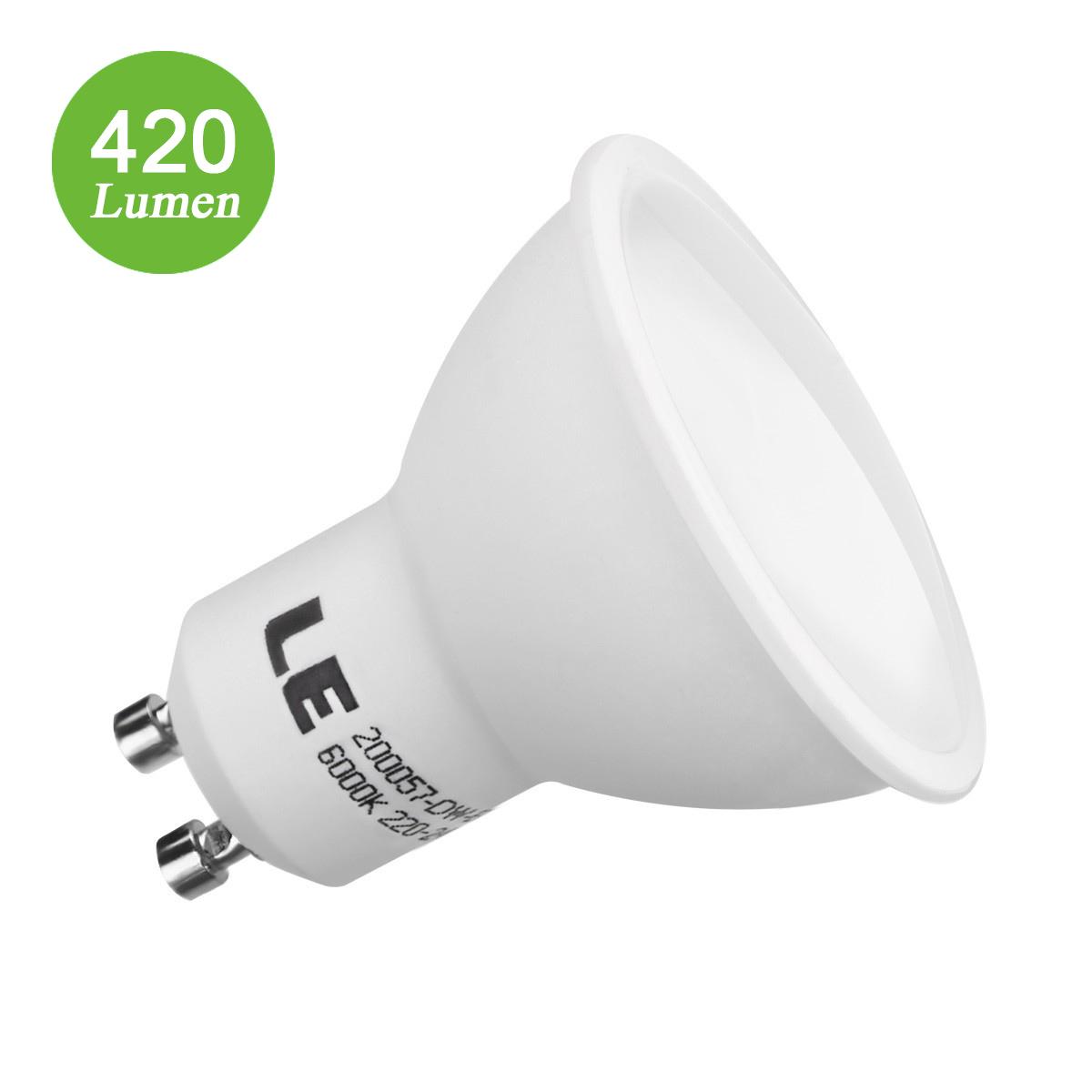 5W GU10 Fassung, 420lm MR16 LED Strahler, Ersatz für 60W Halogenlampe, Kaltweiß