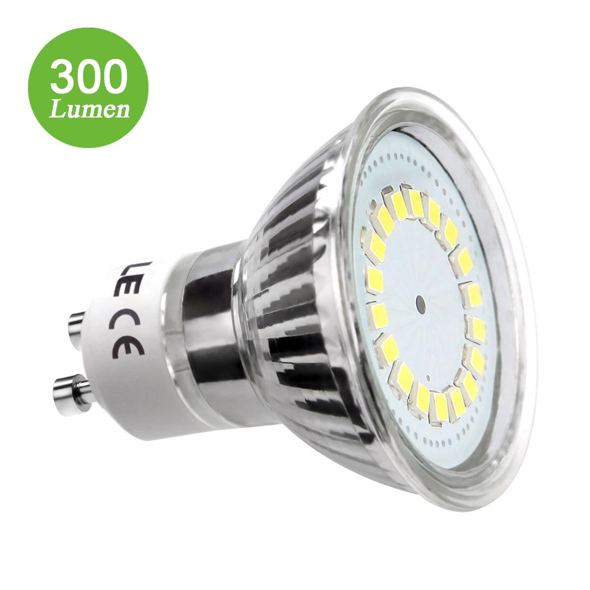 3,5W GU10 MR16 Lampe, 350lm LED Strahler, Ersatz für 50W Halogenlampe, nicht wasserfest Kaltweiß