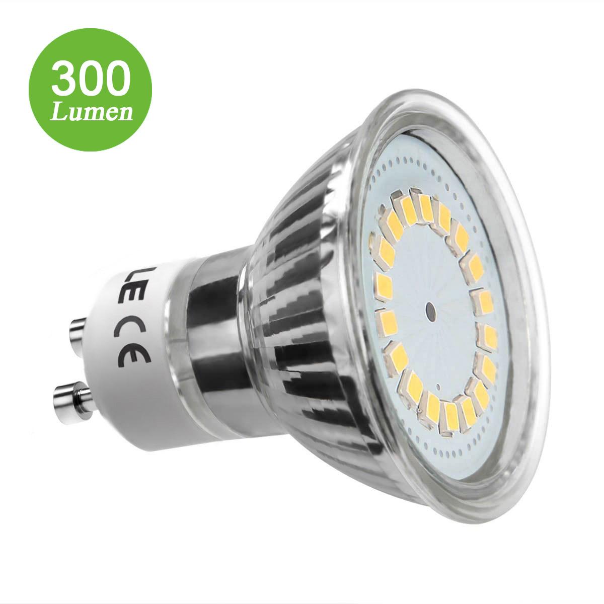 3,5W GU10 MR16 LED Spot, 350lm Leuchtmittel, Ersatz für 50W Halogen, Warmweiß