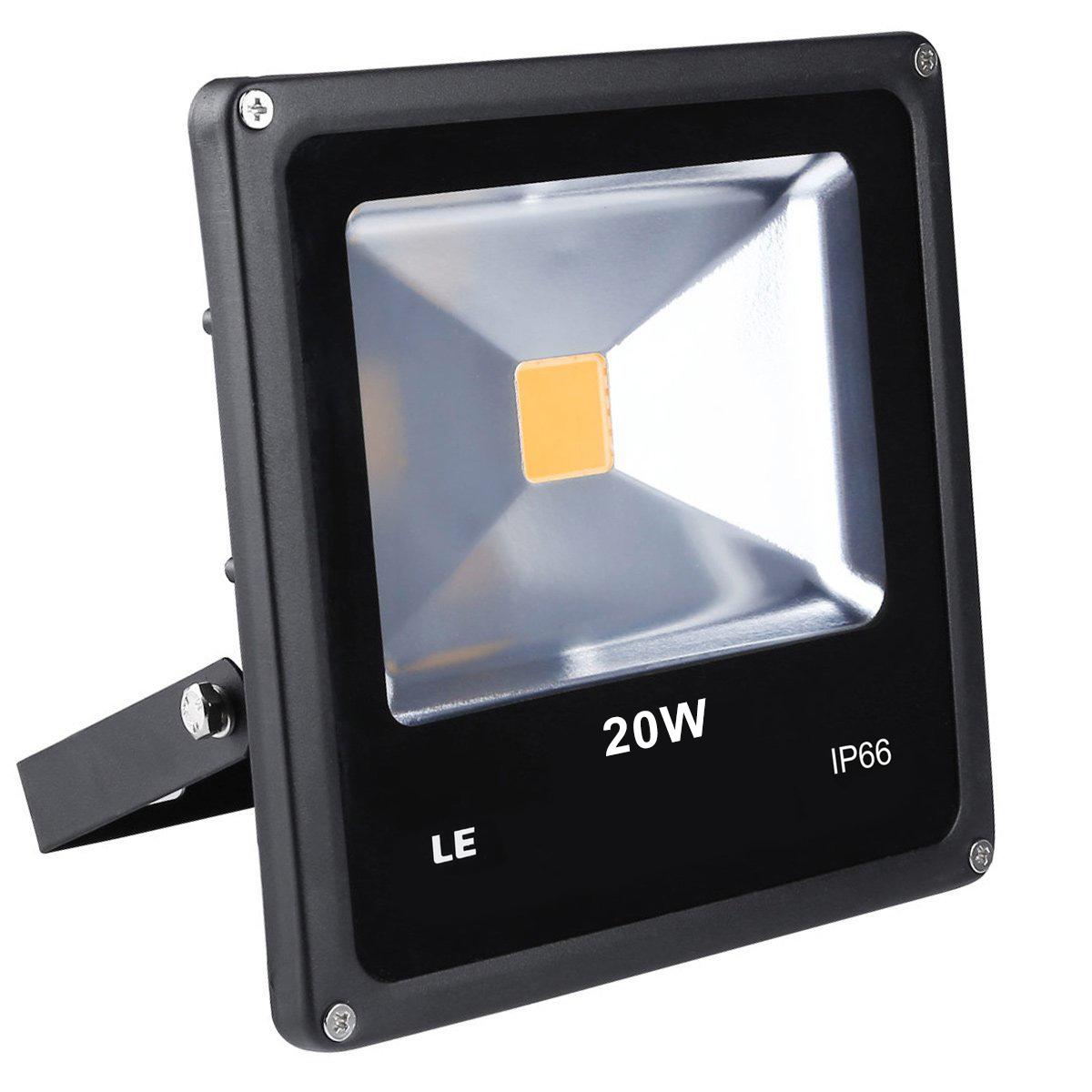 LED Fluter 20W, 1300lm Strahelr, IP66 Wasserdicht, ersetzt 200W Halogenlampe, Warmweiß