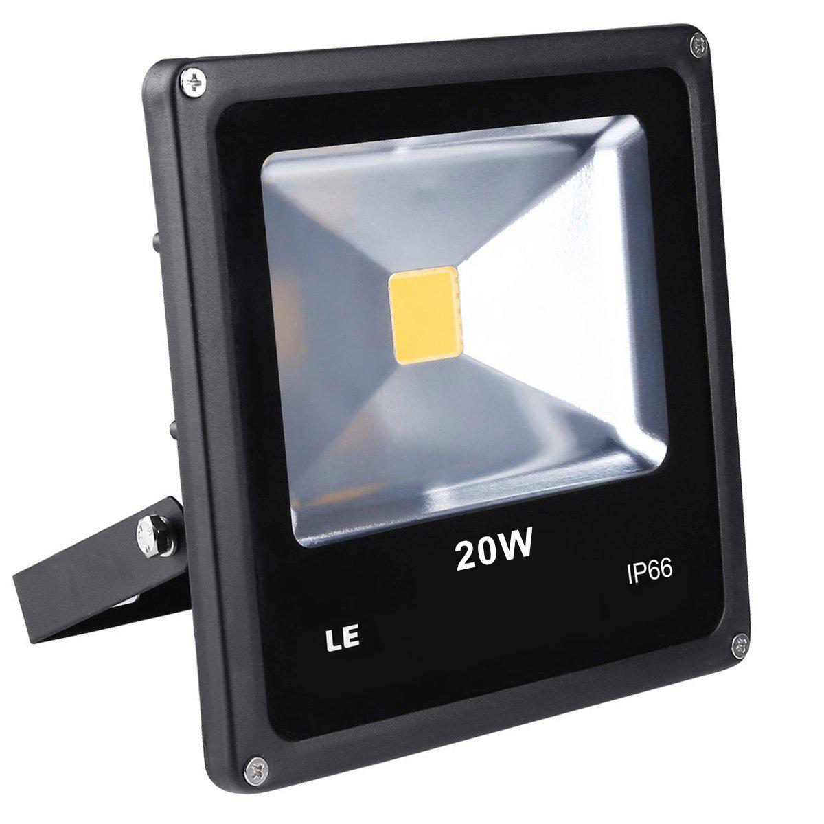 LED Strahler 20W, 1500lm, ersetzt 200W Halogenlampe, Kaltweiß, Wasserdicht IP66, Außenleuchten, Signallampe