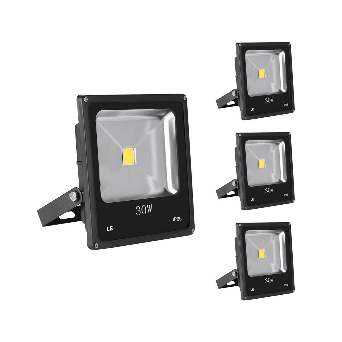 [Bündel] 30W LED Strahler, 2250lm Scheinwerfer, ersetzt 75W HS Lampe, Kaltweiß, Wasserdicht, 3er Set