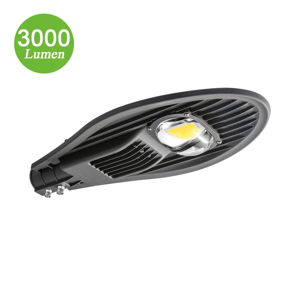 30W Gartenlaterne, 3000lm,  Φ44-52mm, Straßenbeleuchtung, entspricht 100W NH-Lampe, Kaltweiß