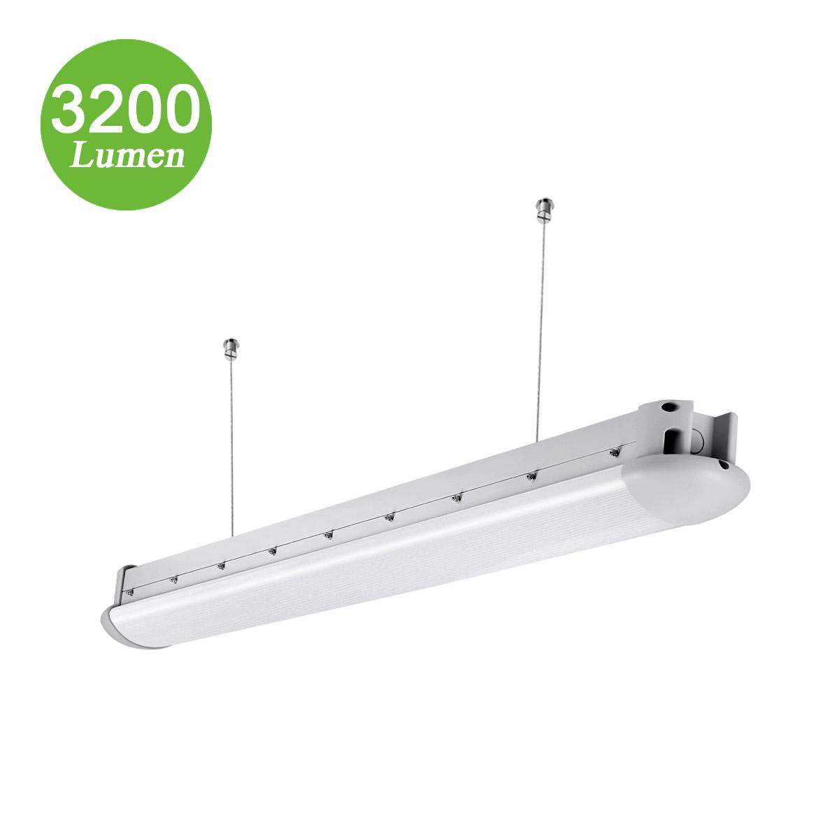 40W LED Feuchtraumleuchte, 3200lm Werkstattbeleuchtung, geschütztes Licht, Ersatz für 90W Leuchtstoffrßhren, Kaltweiß