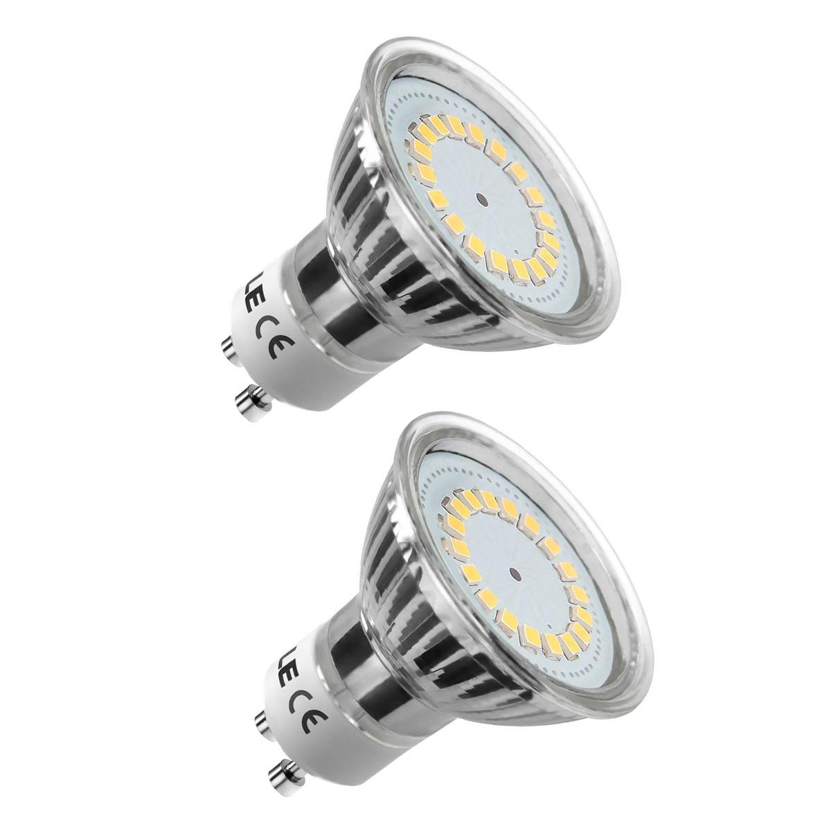 [Bündel] 3,5W GU10 MR16 LED Spot, 350lm Leuchtmittel, Ersatz für 50W Halogen, Warmweiß, 2er Set