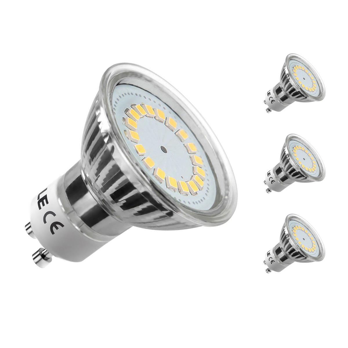 [Bündel] 3,5W GU10 MR16 LED Spot, 350lm Leuchtmittel, Ersatz für 50W Halogen, Warmweiß, 3er Set