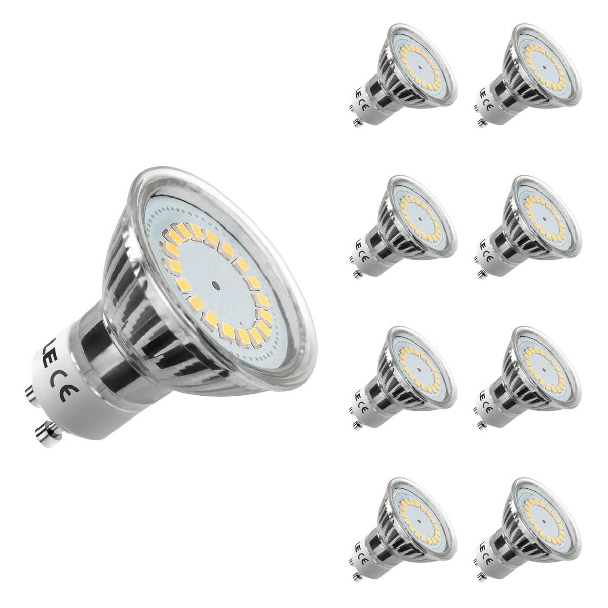 [Bündel] 3,5W GU10 MR16 LED Spot, 350lm Leuchtmittel, Ersatz für 50W Halogen, Warmweiß, 8er Set