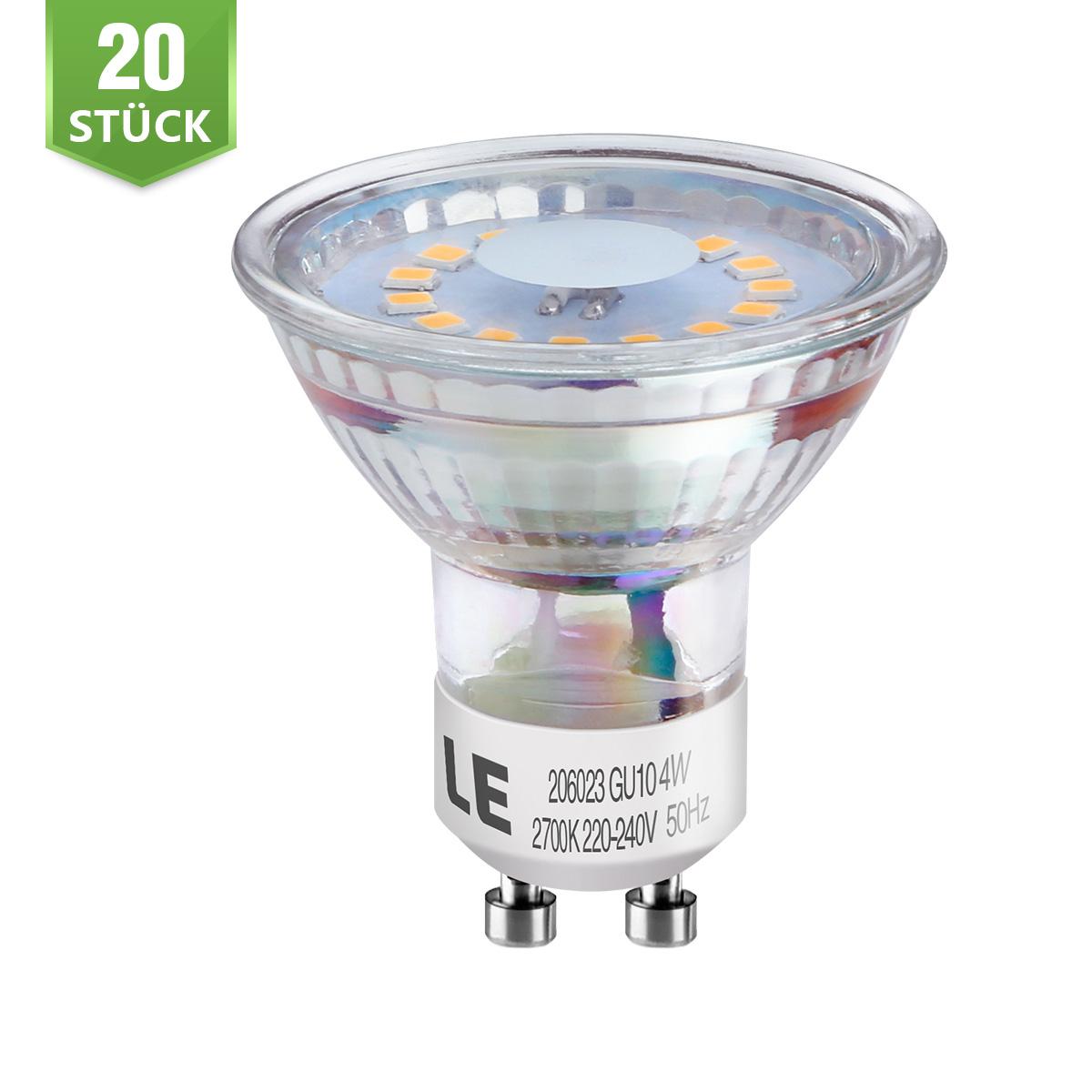 [Bündel] 3,5W GU10 MR16 LED Spot, 350lm Leuchtmittel, Ersatz für 50W Halogen, Warmweiß, 20er Set