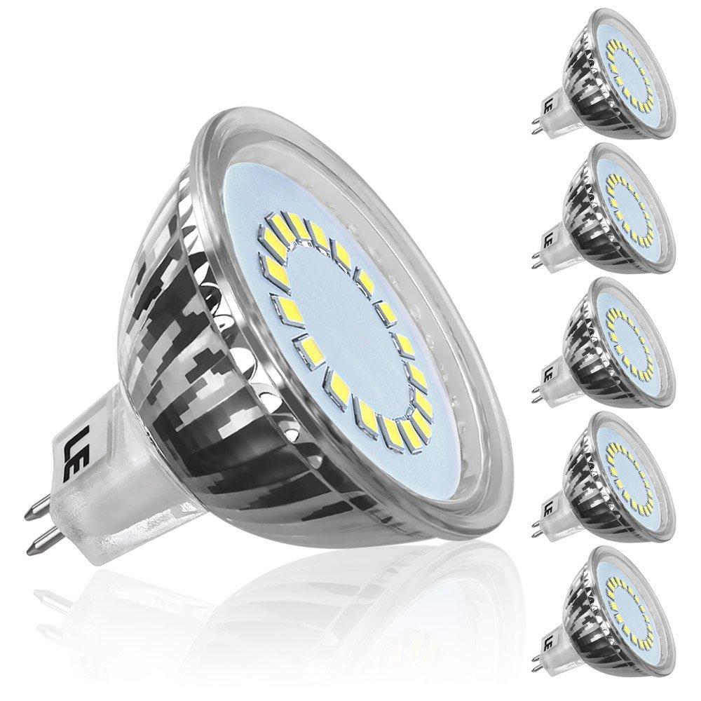 LED 3,5W MR16 Birnen, 280lm 12V GU5.3 LED Lampen, 120 ° Strahler Licht, Entspricht einer 35W Halogenlampen, Kaltweiß, 5er Pack