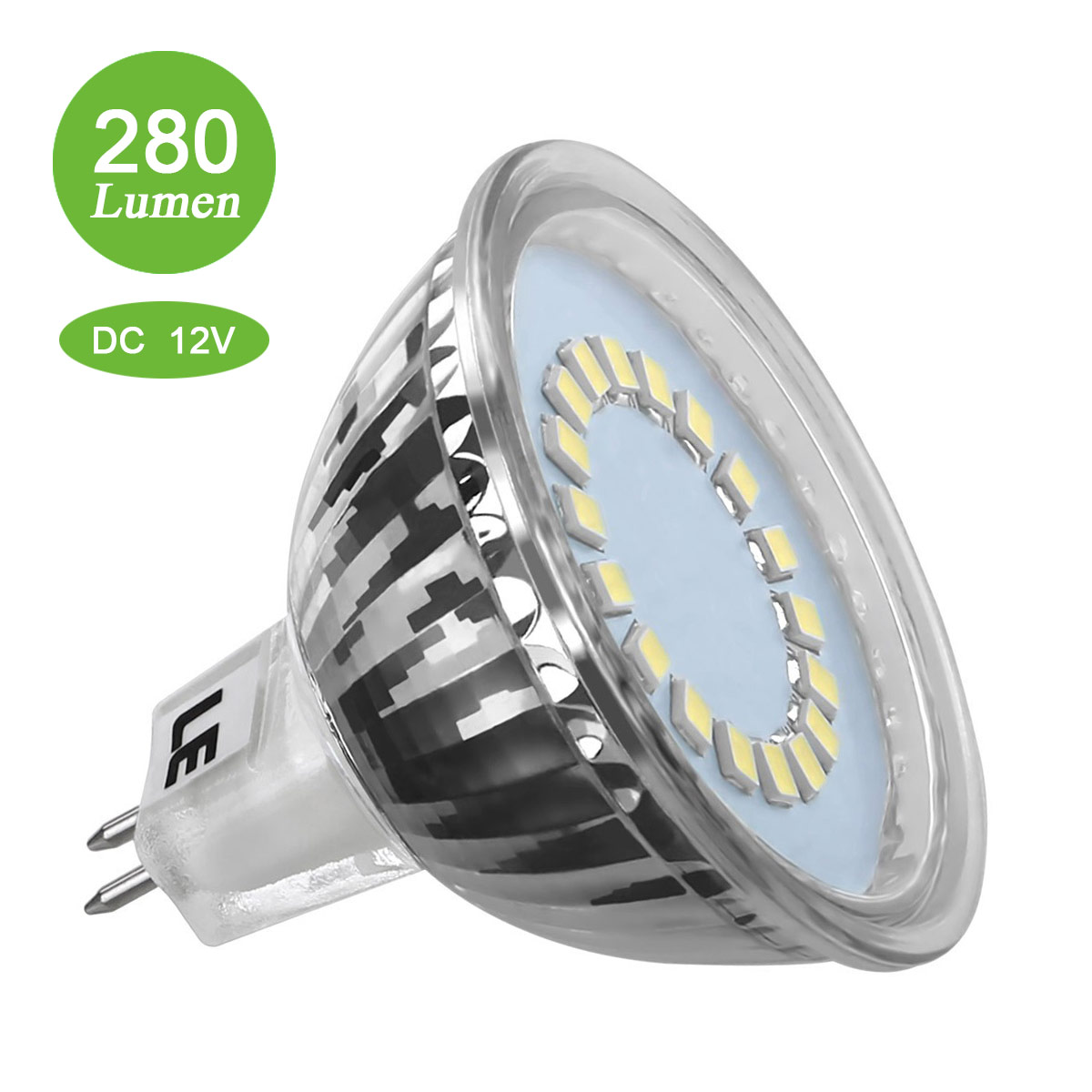 LED 3,5W MR16 Birnen, 280lm 12V GU5.3 LED Lampen, 120 ° Strahler Licht, Entspricht einer 35W Halogenlampen, Kaltweiß
