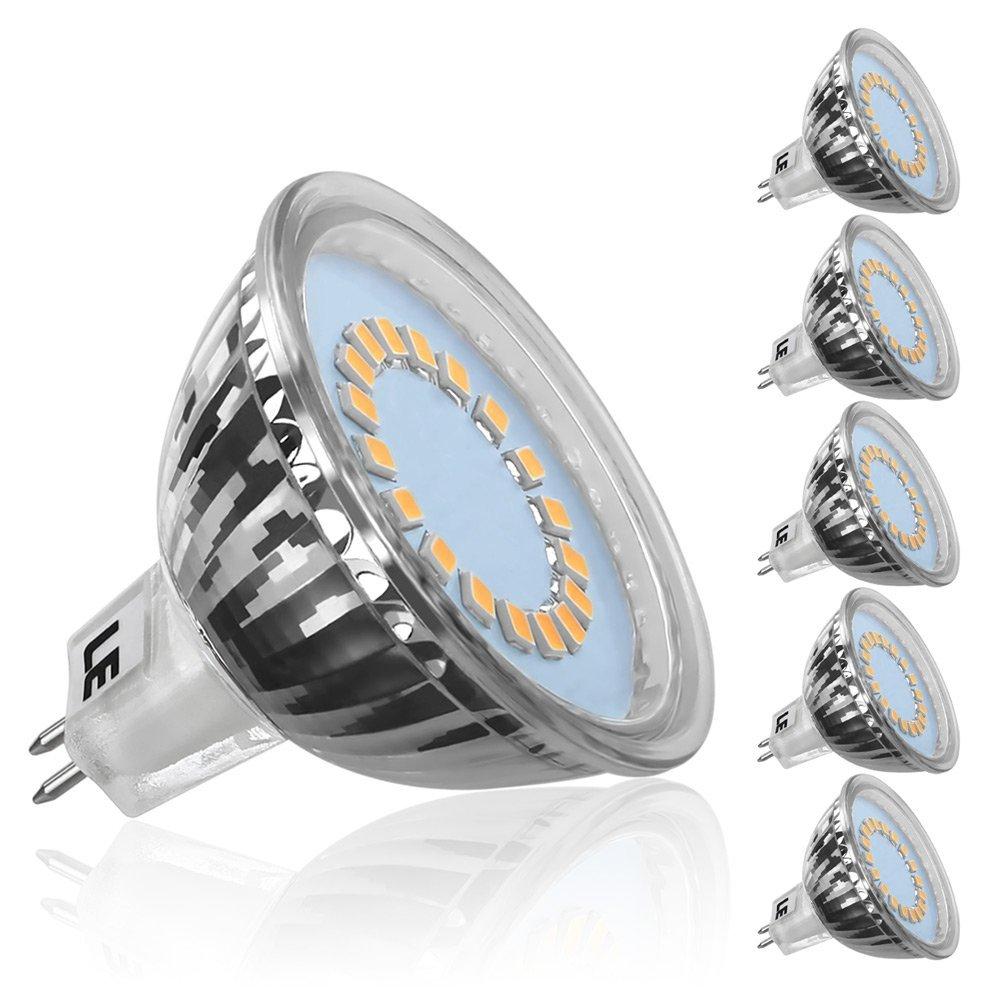 3.5W MR16 GU5.3 Birnen, 5er Set, Entspricht einer 35W Halogenlampen, Nur 12V DC, 280lm, 120 ° Abstrahlwinkel, Warmweiß