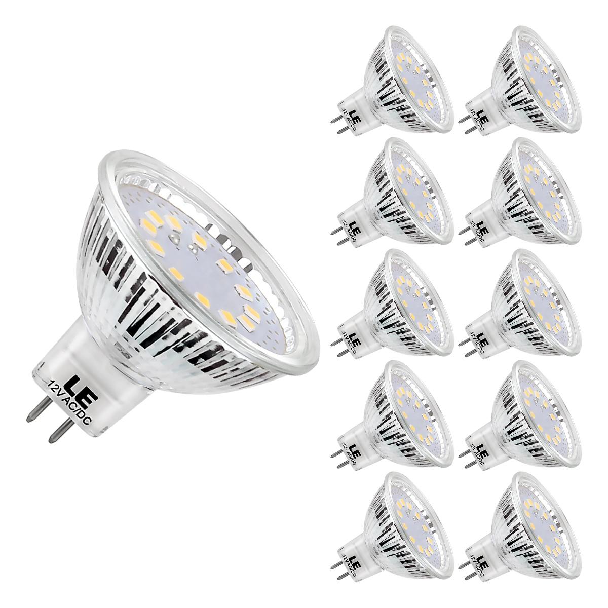 3,5W MR16 GU5.3 LED Lampen, 12V 280lm Birnen, 120 ° Abstrahlwinkel, ersetzt 35W Halogenlampen, Kaltweiß, 10er Pack