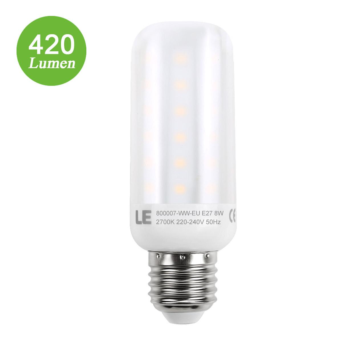 4,5W E27 LED Maiskolben, 420lm Maisbirne, 360° Strahler, Entspricht 40W Glühbirnen, Warmweiß
