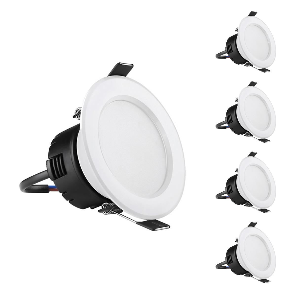 4W LED Deckeneinbauleuchten, 210lm Deckenspots, 75mm, entspricht 30W Halogenlampe, Warmweiß, 4er Set