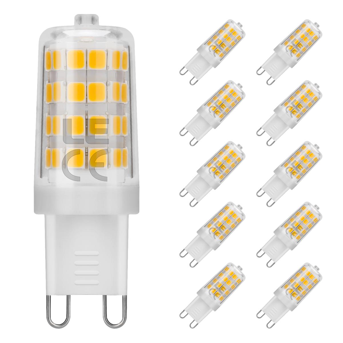 5W 340lm G9 LED Lampen, 360° Abstrahlwinkel LED Birnen, ersetzt 50W Halogenlampen, Warmweiß, 10er Set