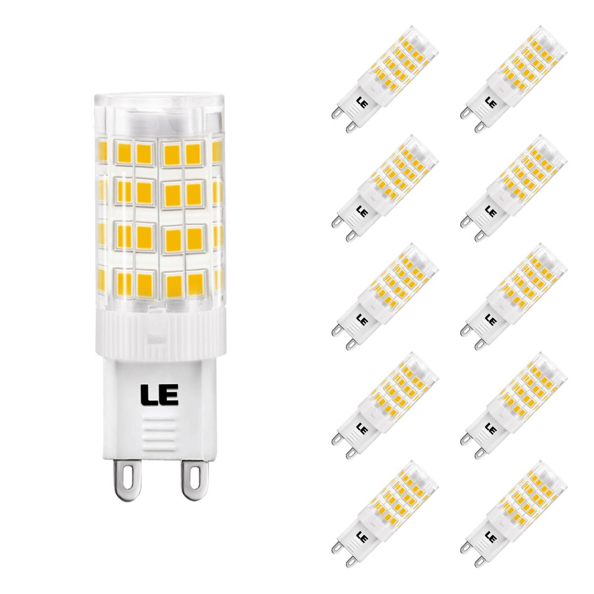 [Bündel] 5W G9 LED Maiskolben, 340lm Maisbirne, 360° Beleuchtung, Ersatz für 50W Halogenbirne, Warmweiß, 10er Set