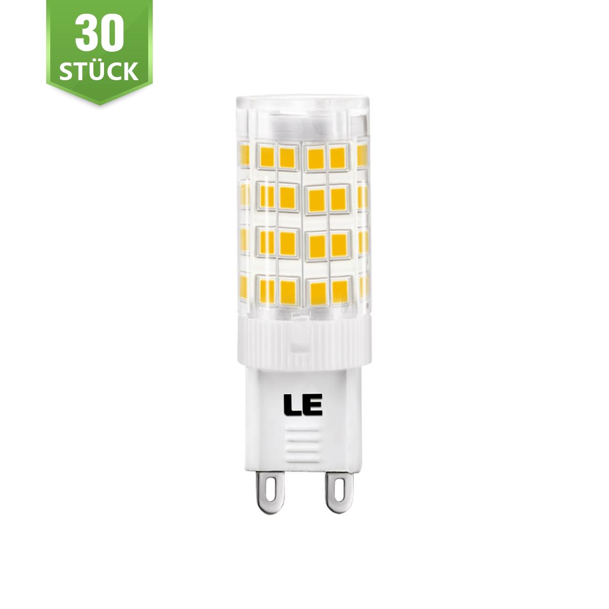 [Bündel] 5W G9 LED Maiskolben, 340lm Maisbirne, 360° Beleuchtung, Ersatz für 50W Halogenbirne, Warmweiß, 30er Set