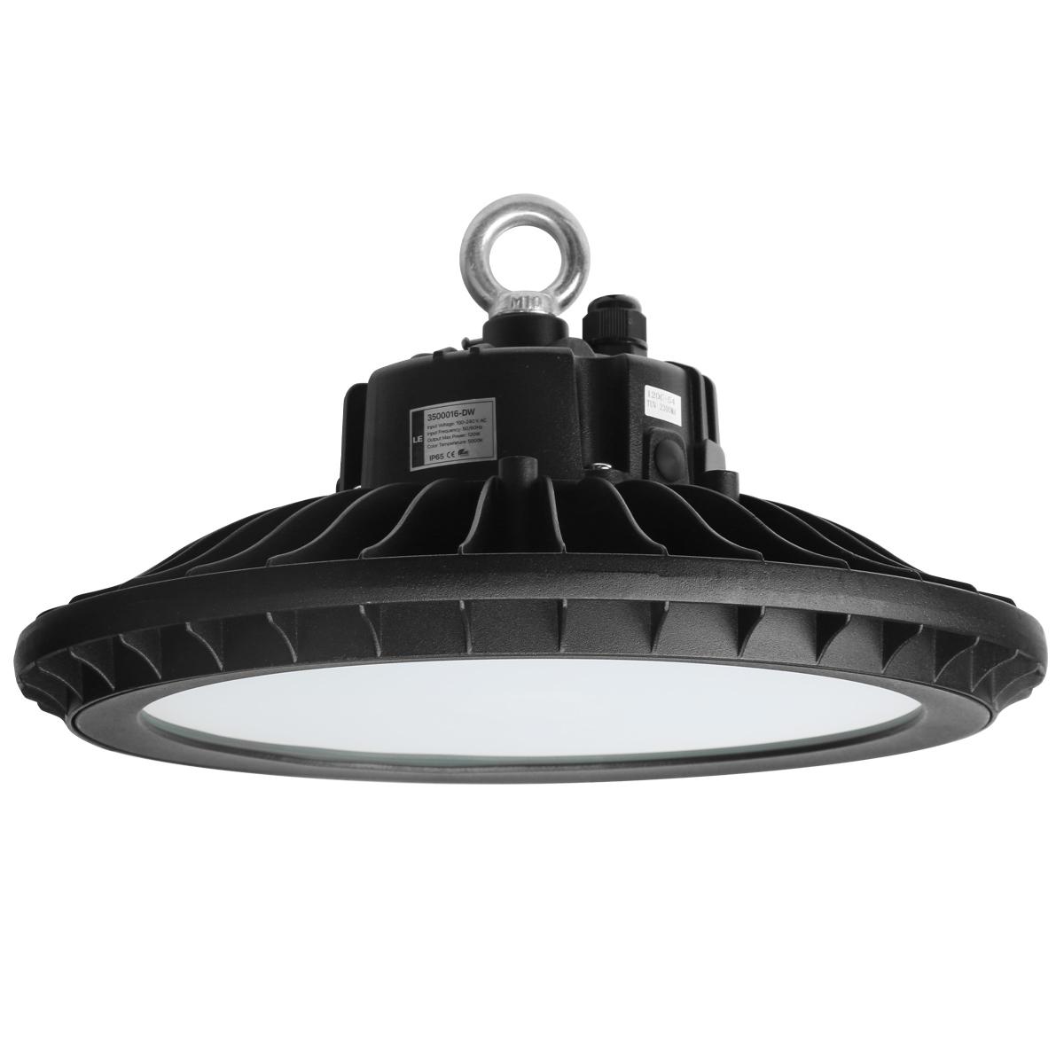 60W LED UFO Hallenstrahler, 7200lm Hallenbeleuchtung, wasserfeste Industrielampe, ersetzt 150W Halogen Metalldampflampe, Kaltwei?