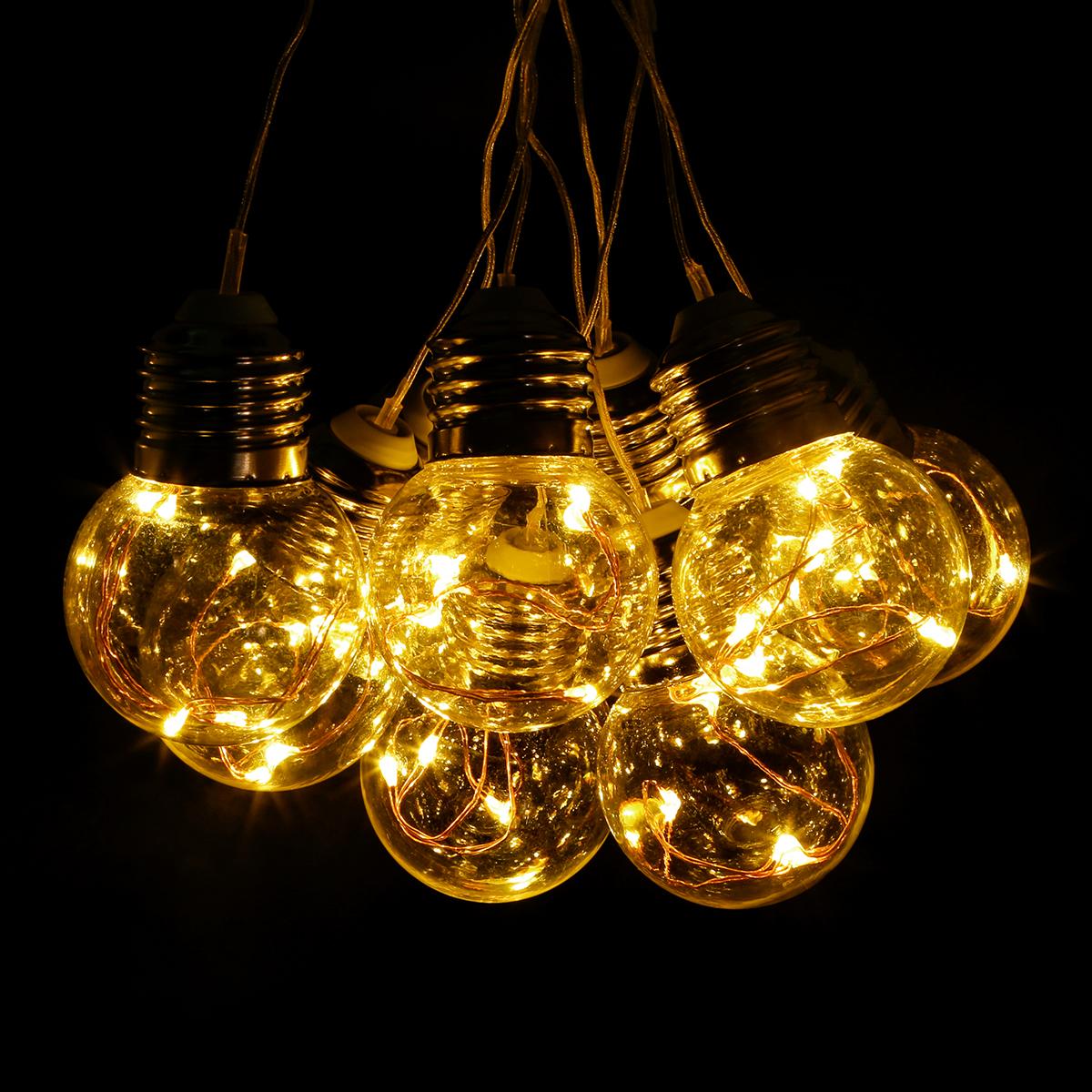 6M LED Lichterkette, 4,5W 125er LEDs, Warmweiß Wasserdicht Kupferdraht Beleuchtung, Deko für Weihnachten Dekoration Party