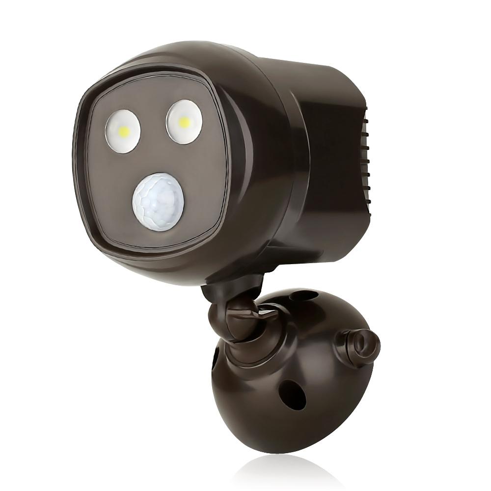 6W Drahtloser LED Spot, 300lm PIR Bewegungsmelder, batteriebetriebene, wasserdicht IP65, Wandleuchten