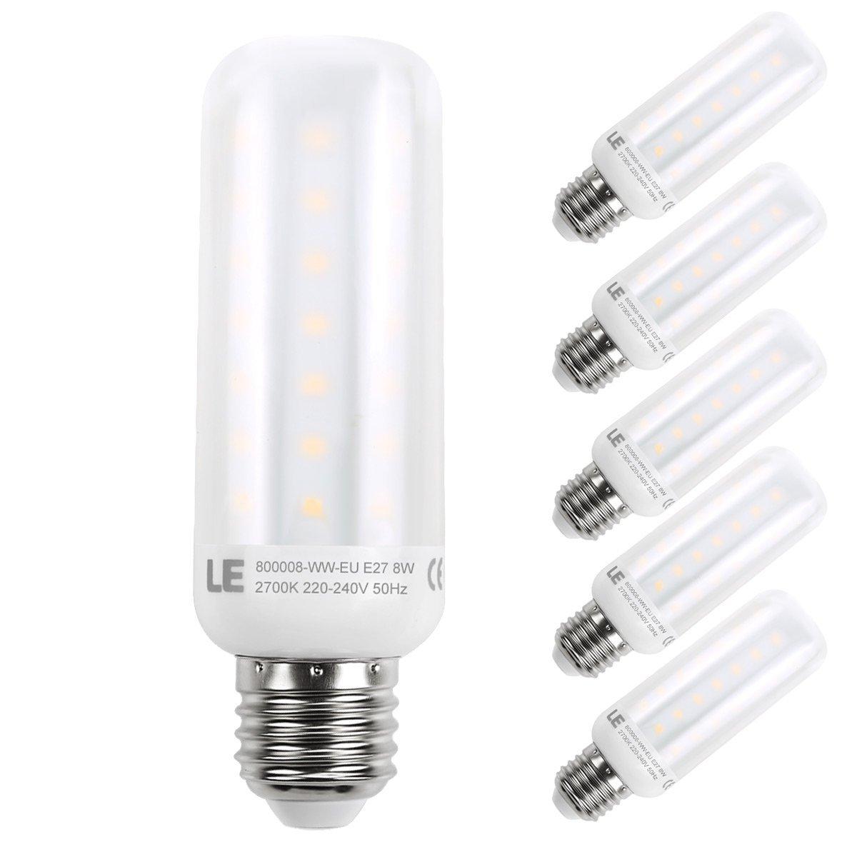 8W E27 LED Maiskolben, 810lm Maisbirne, 360° Strahler, Ersatz für 60W Glühlampe, Warmwei?, 5er Pack