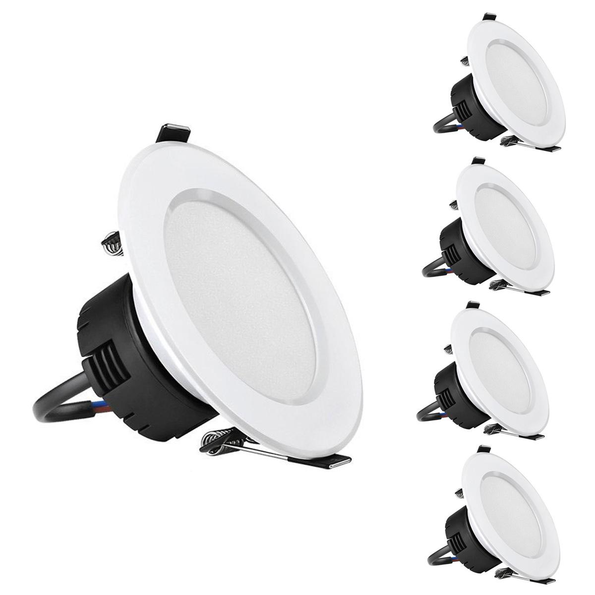 8W LED Einbaustrahler, 400lm, 90mm entspricht 75W Halogenlampe, Warmweiß, 4er Pack