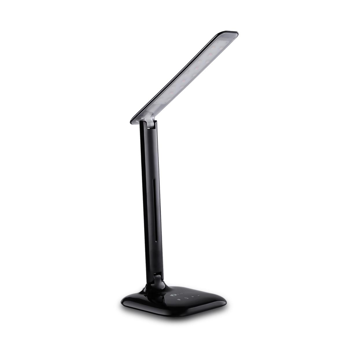 Dimmbar LED Schreibtischlampe, Leselampe mit 3 Farben, Tischleuchten, 5 Helligkeitsstufen