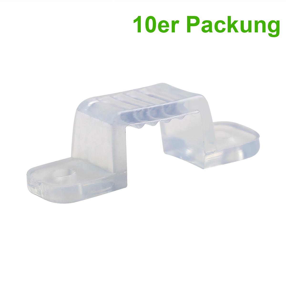 Halterungen für 230V 3528 LED Streifen,  Montageklammer, 10mm Breite, 10er