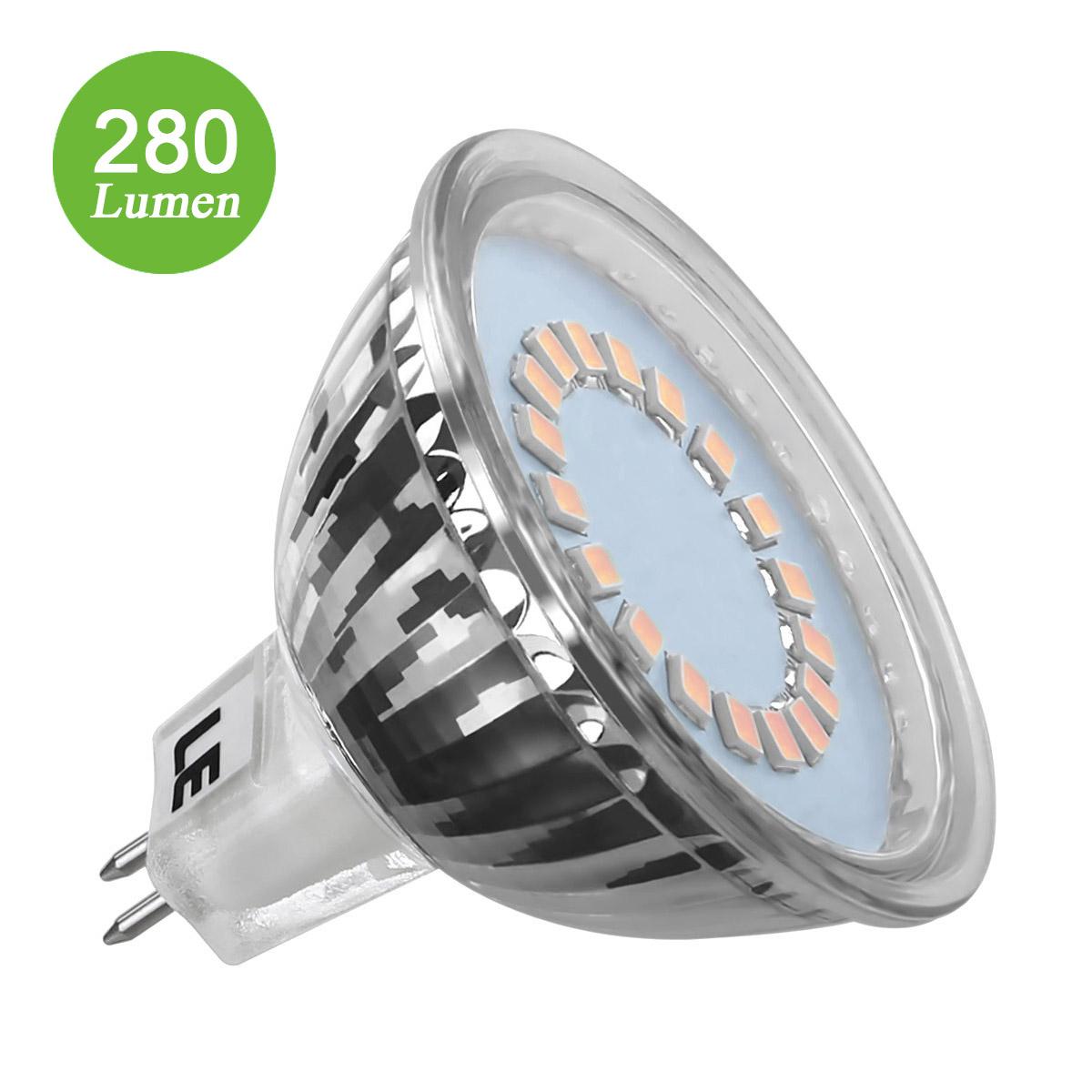 3.5W MR16 GU5.3 Birnen, Entspricht einer 35W Halogenlampen, Nur 12V DC, 280lm, 120 ° Abstrahlwinkel, Warmweiß