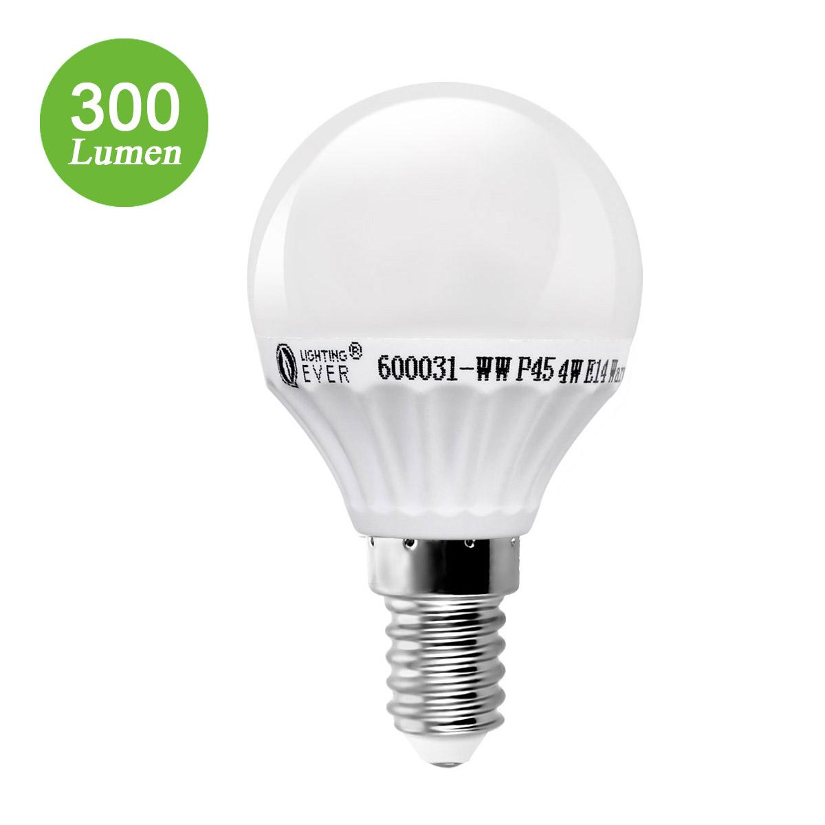 4W E14 P45 LED Birnen, 300lm Golfball Lampen, ersetzt 35W Glühlampe, Warmweiß