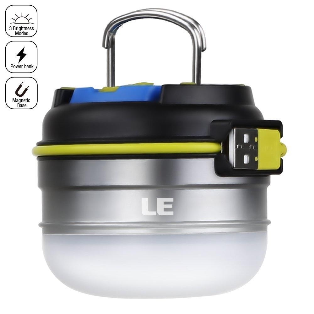 LED Campingleuchten, USB Wiederaufladbar, 280lm 3 Modi, 3000mAh Energiebank, Magnetisch, Wasserdicht , Neutralweiß/kaltweiß