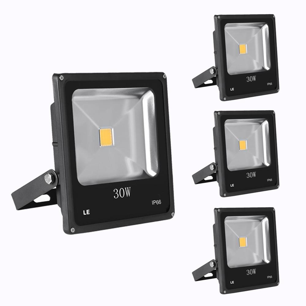 [Bündel] LED Fluter 30W, 1950lm Strahler, ersetzt 75W HS Lampe, Warmweiß, Wasserdicht, Außenleuchten, 3er Set
