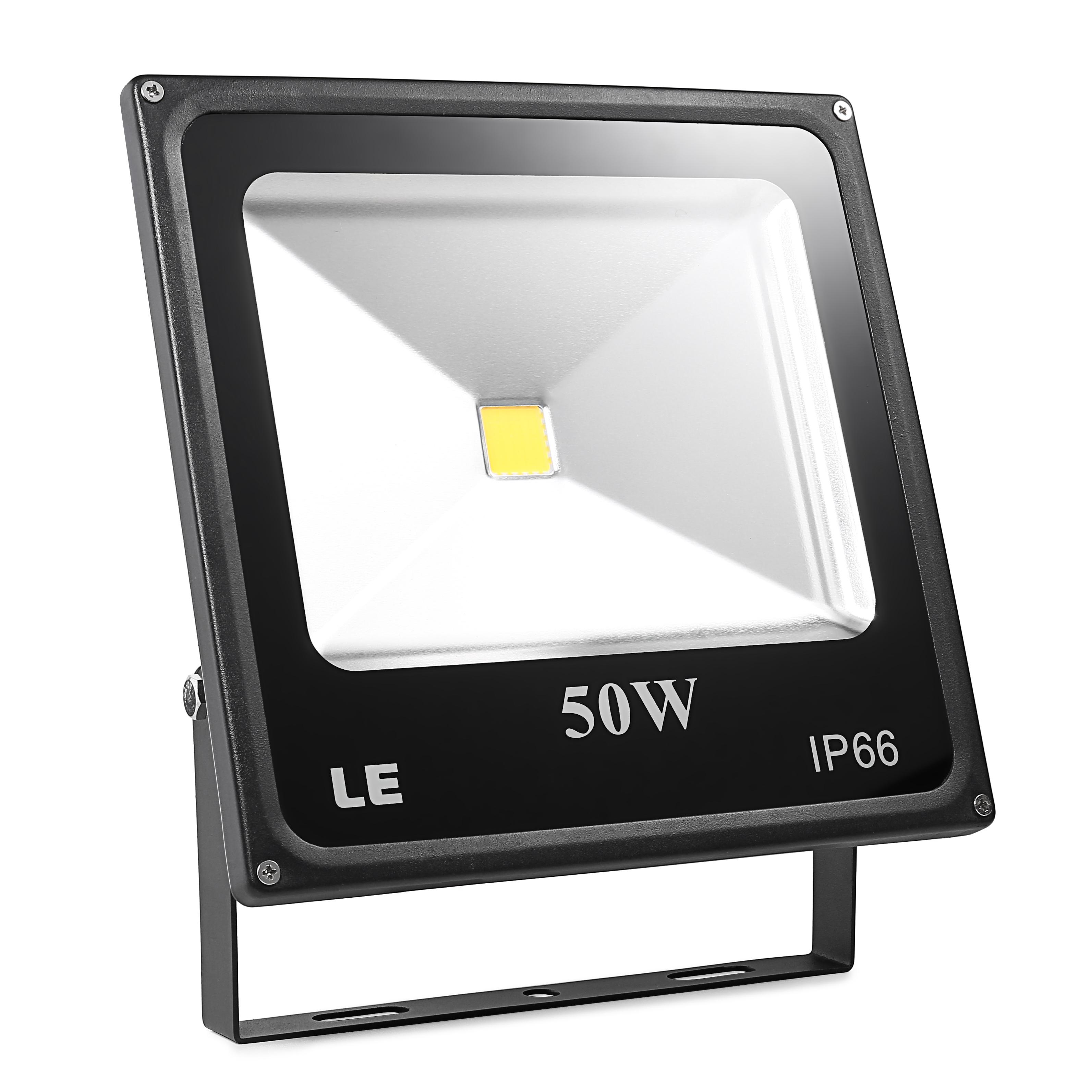 LED Fluter 50W, 3750lm Flutlicht, ersetzt 150W HS Lampe, Kaltweiß, Signalleuchten, Außenleuchten